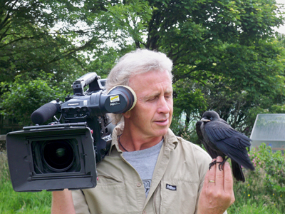 Jeff with Jackdaw chick
